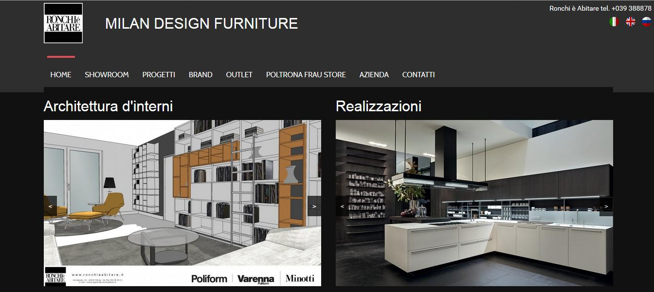 Ronchi abitare arredamento di design planet web for Sito arredamento design